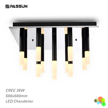 square 500x500 ceiling surface mounted led chandelier 36w