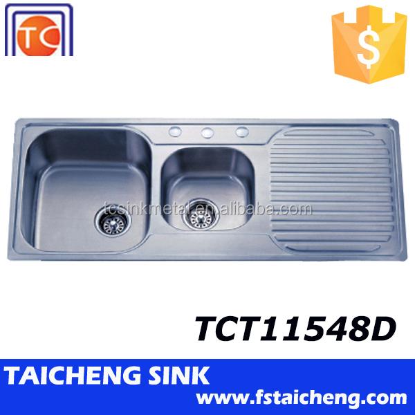 Sink Manufacturers : Best Manufacturer 1.5 Bowl Double Sink Bathroom Vanity Tct11548d - Buy ...