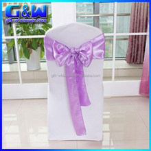 Wedding banquet spandex chair cover Tie Stain chair cover bow Purple for Wedding chair cover decor