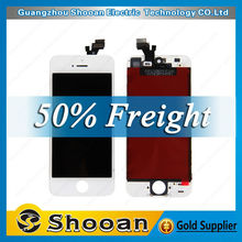 foxconn for iphone 5 waterproof screen protector,mobile phone lcd for iphone 5