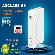 Factory price Free 1080P porn video Azclass A9 Android TV box DVB-S2 Android 4.2 OS Dual core Free SKS for Nagra 3