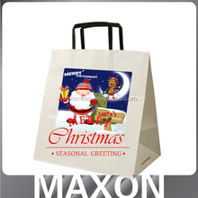 Lowest price!!! art paper christmas paper bag with handle