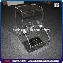 TSD-A135 wholesales bumper system acrylic containers for food/clear acrylic food container/food clear acrylic storage containers