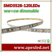 zhongshan led strip SMD3528-120LED CW/WW adjustable CUSTOM LED LIGHTING STRIP