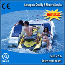 Fiberglass Combined boat SANJ SJFZ16 matched with jet ski,with CE