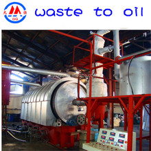 2015 automatic pollution-free waste tyre used plastic recycling to oil pyrolysis equipment