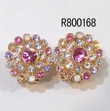 new Design popular Zircon 24 carat gold earrings
