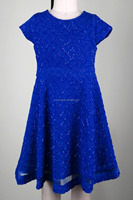 2016 Fashion Beautiful Kids Blue Girl Dress Breathable Dress