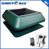 """12 inch With thermostat switch Square solar attic fan and 14"""" exhaust fan"""