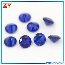 Round Brilliant Cut #112 Blue Sapphire Synthetic Spinel Stone