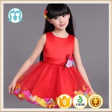 2015 one piece girls latest party wear medium length girls party dresses