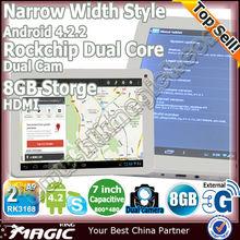 7 '' de bonne qualité android 4.1 dual core tablet avec de longs temps d'attente