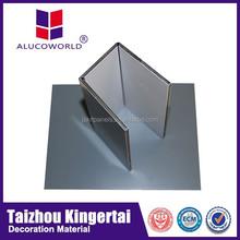 Alucoworld pvdf coating acm reflective aluminum sheet specification aluminum acp 4mm sheets aluminum composite panel