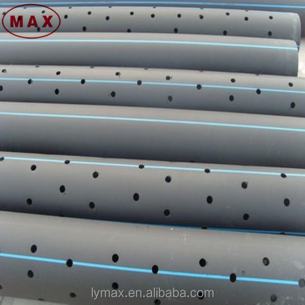 Plastic Large Diameter Pe100 Hdpe Perforated Drainage Pipe