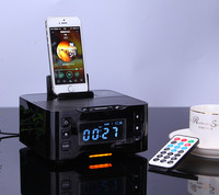 2015 latest bluetooth NFC radio snooze alarm clock rechargeable docking station for iOS Android