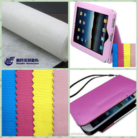 2015 new fashion hot selling 100% pu/pvc synthetic leather nonwoven fabric for iphone/ipad cover /Xiaoshan,Zhejiang,china