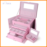 Nuowei Si butterfly super large capacity four imported leather jewelry box jewelry box jewelry storage box New