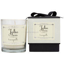 Promotional Scented Soy Candle in glass with cardboard box