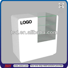 TSD-W684 China factory retail shop/ supermarket wooden counter/ reception table/ information desk