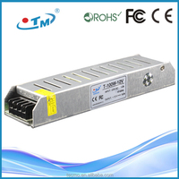 2015 Hotsales ac to dc 100w 8.3 amp 12v led driver plastic case