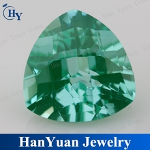 2015 new wholesale light green trillion CZ stones