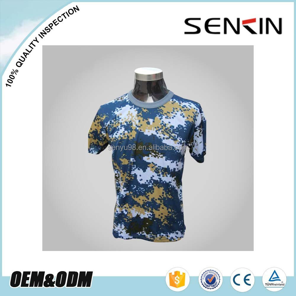 Guangzhou factory 100 polyester plain custom camo dry fit for Custom t shirts camouflage