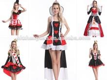 instyles senhoras rainha do traje coração país das maravilhas de conto de fadas fantasia vestido traje