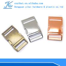 factory dircectly selling metal side release buckle 10mm curved metal buckles