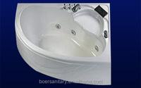 2015 new design hot-selling functional cheap acrylic fiberglass massage bathtub