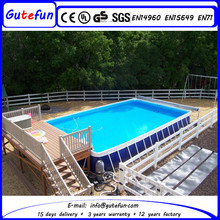 best quality hot sale people running fiberglass swim pool for holiday programs