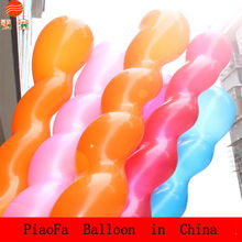 long shape colorful latex screw spiral shape balloon