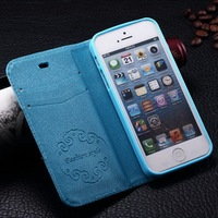 Professional factory hot selling cell case for Iphone 6 4.7 inch soft silicone plate with PU leather protect