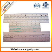 Natural wood different sizes wooden ruler
