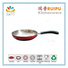 Hot nonstick stainless steel red fry pan as seen on tv 2015 new product