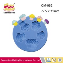 Little cupcake silicone fondant mold for chocolate candy soap clay resin craft