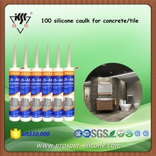 General purpose 100 silicone caulk for concrete/tile/ceramic products