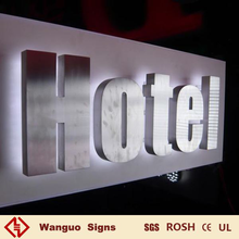High quality back illuminated stainless steel channel letter sign