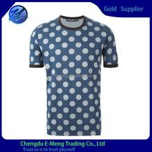 Custom dry fit spot printing collar sport t shirts for man