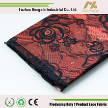 Flower High Quality Fashion Velvet French Lace Fabric for Garment Underwear 100 Nylon black