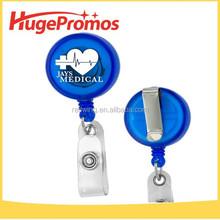 Logo Printed ABS Mini Badge Reel /Round Badge Reel