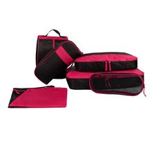 7 pcs toiletry kits travel bag set,mesh grooming cosmetics make up bag pack organizer, vanity makeup beauty shaving storage bag