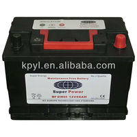 High quality MF auto battery 12v 75ah