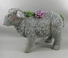 Garden Decoration, Stone Sheep Statue Garden Ornaments Sheep