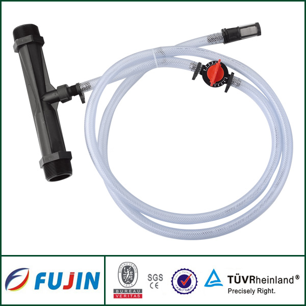 Farm drip irrigation system venturi fertilizer injector