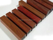 beautiful design 4D imitation wood grain aluminum extrusions profile for windows and doors, curtain wall, home decor