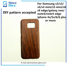 Wood Case For Samsung S6 S6 Edge Walnut Detachable Metal Cover Backup Hard Shell 01