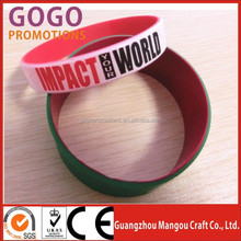 HOT sale!Custom design colorful silicon wristband,best printed silicon rubber wristband, cheap Silicon band For Promotional Item