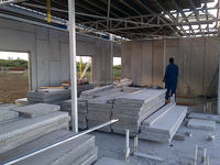 2015 lightweight eps concrete panel / wall partition materials / prefab apartments