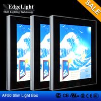 Edgelight AF50 aluminous frame clip type Waterproof outdoor led lighting box