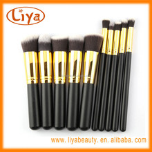 10 PCS Cosmetic Facial Make up Brush Tools for Basic Makeup